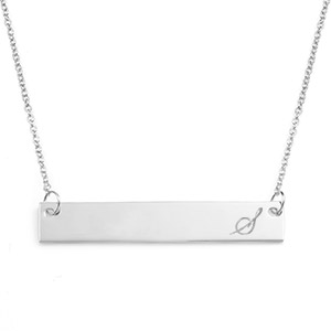 Adjustable Personalized Skinny Bar Necklace