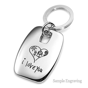 Custom Engraved Handwriting Collection Keychain