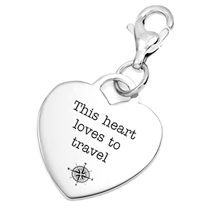 Custom Engraved Stainless Heart Charm