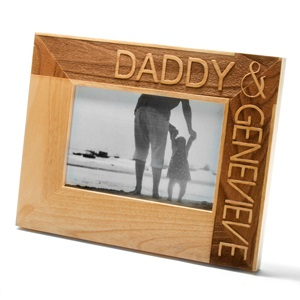 Daddy & Child Alder Wood Personalized Picture Frame