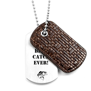 Dark Leather and Steel Personalized Dog Tag Necklace