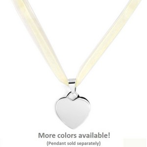 Various Color Ribbon Necklace 16 - 18 inch