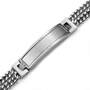 Double Chain Silver Tone Bracelet 8 inch