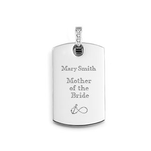 Silver Personalized Pendant with CZs