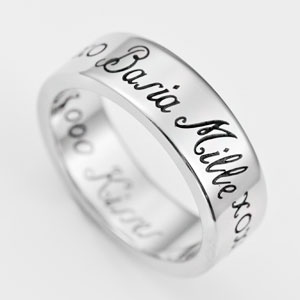 A Thousand Kisses Stainless Steel Engraved Rings sz 5 and sz 11