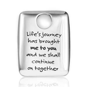 Lifes Journey Stainless Personalized Pendant