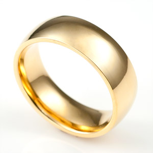 Personalized Gold Band Engraved Rings