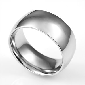 Broad Band Polished Steel Custom Rings