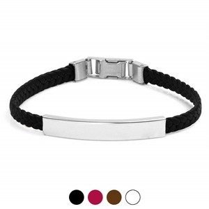 Adjustable Braided Faux Engraved Leather Bracelets