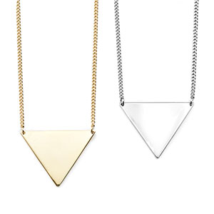 Silver & Gold Geometric Engraved Necklaces