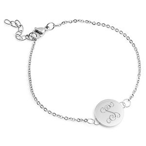 Ellie's Dainty Silver Custom Bracelet Adjustable