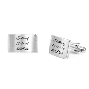 Stainless Cuff Links in Matte Finish