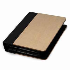 Engraved Maple Wood & Faux Leather Photo Album