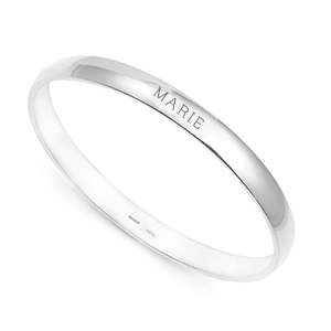 Engraved Sterling Silver Bangle Bracelet for Child