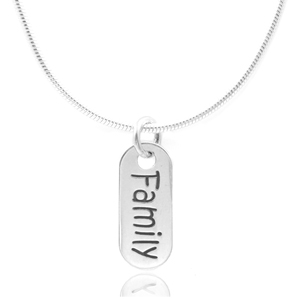 Family Sterling Silver Petite Pendant
