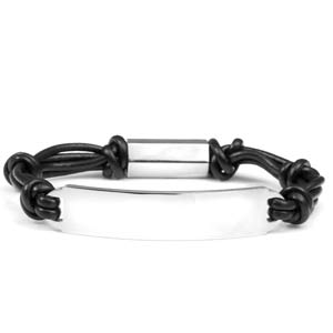 Magnetic Steel & Rubber Personalized Bracelet