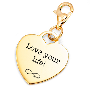 Gold Engraved Heart Charm