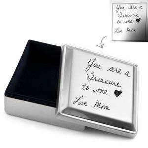 Handwriting Gifts Square Jewelry Box