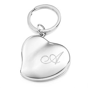 Heart Photo Locket Personalized Keychain