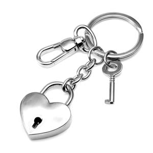 Heart Shaped Engravable Keychain & Charm