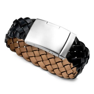 Personalized Leather Bracelet & Stainless Clasp 7 - 9 Inch
