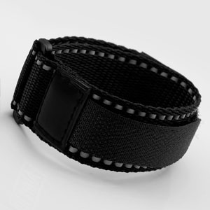 Black Sport Strap Adjustable 5 1/2 - 8 Inches