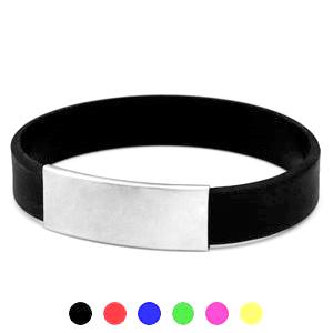 Engraved Silicone ID Bracelets in Various Colors