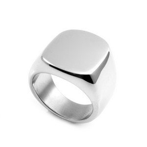 Silver Signet Style Engraved Rings