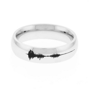 I Love You Soundwave Engraved Rings
