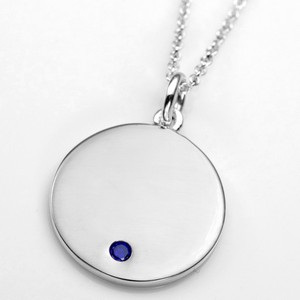 Sep Birthstone Sterling Silver Small Pendant
