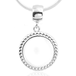 Rounded Sterling Silver Necklace Pendant