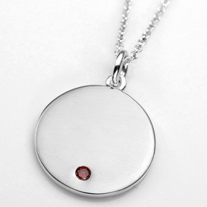 Elegant Sterling Personalized Birthstone Necklace Pendants