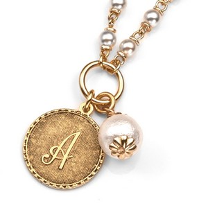Initials - Gold Plated & Cotton Pearl Necklaces by John Wind