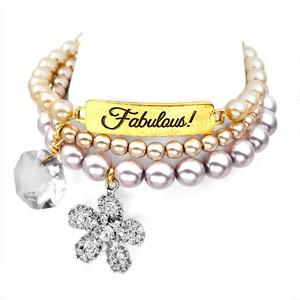 Fabulous! 24K Gold Plated Charm Bracelets by John Wind