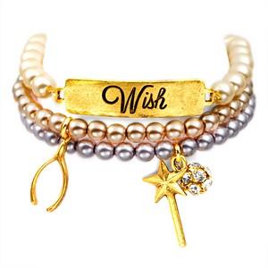 Wish 24K Gold Plated Charm Bracelets by John Wind
