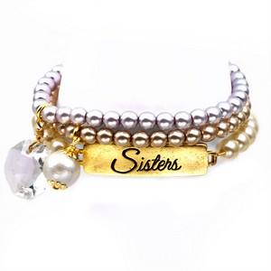 Sisters 24K Gold Plated Charm Bracelets by John Wind