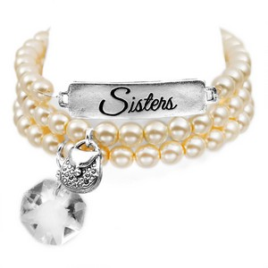 Sisters Silver Plated Charm Bracelets by John Wind