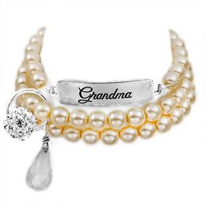 Grandma Silver Plated Charm Bracelets by John Wind