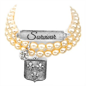 Survivor Silver Plated Charm Bracelets by John Wind