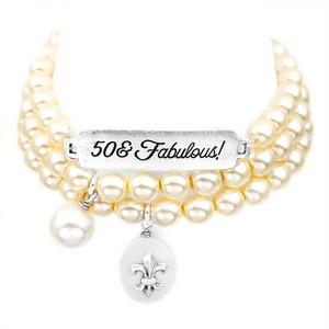 50 & Fabulous! Silver Plated Charm Bracelets by John Wind