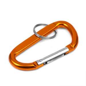 Orange Anodized Aluminum Carabiner Keychain