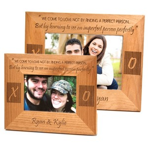 To See an Imperfect Person Perfectly Alder Wood Engraved Photo Frames