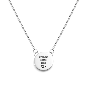 Lena Round Personalized Silver Necklace