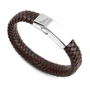 Braided Dark Personalized Leather Bracelets