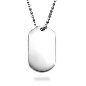 316L Stainless Steel Large Engraved Dog Tag