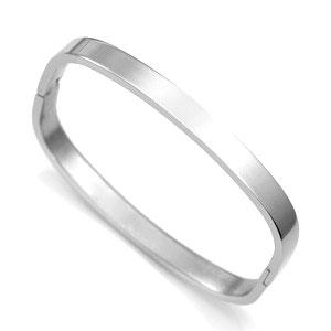 Silver Personalized Bangle Bracelet