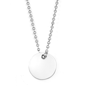 Minimalist Looks Round Engraved Necklace