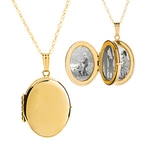 Alyssa 14K Gold 4 Pic Personalized Locket