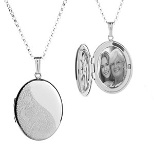 I Carried You Footprints Engraved Locket Necklace