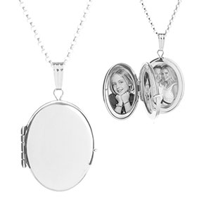 Sarah Sterling Silver Personalized Lockets